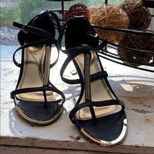 Black & Gold short heel